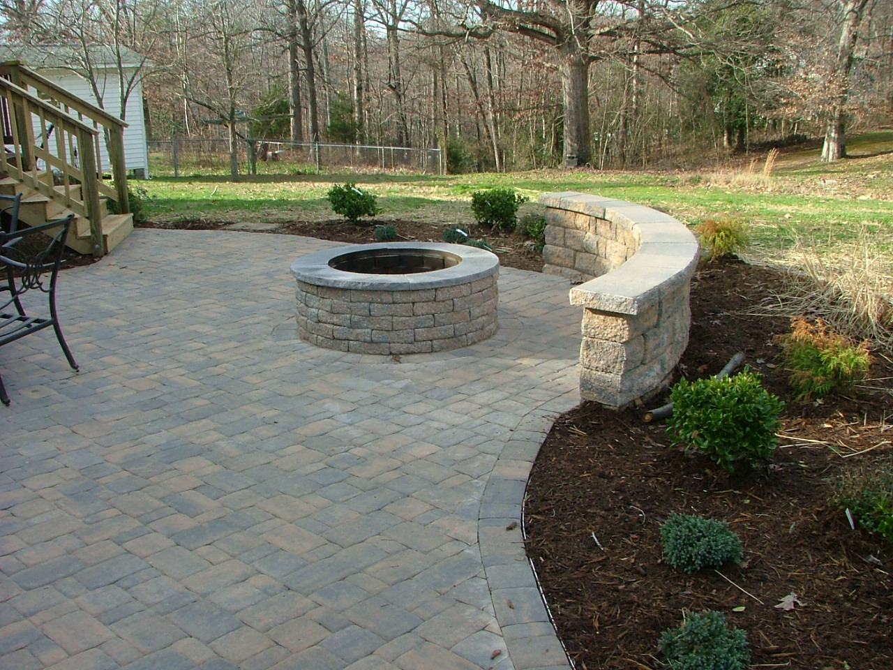 cu paver patio staffod virginia - Brick Paver Patio Designs