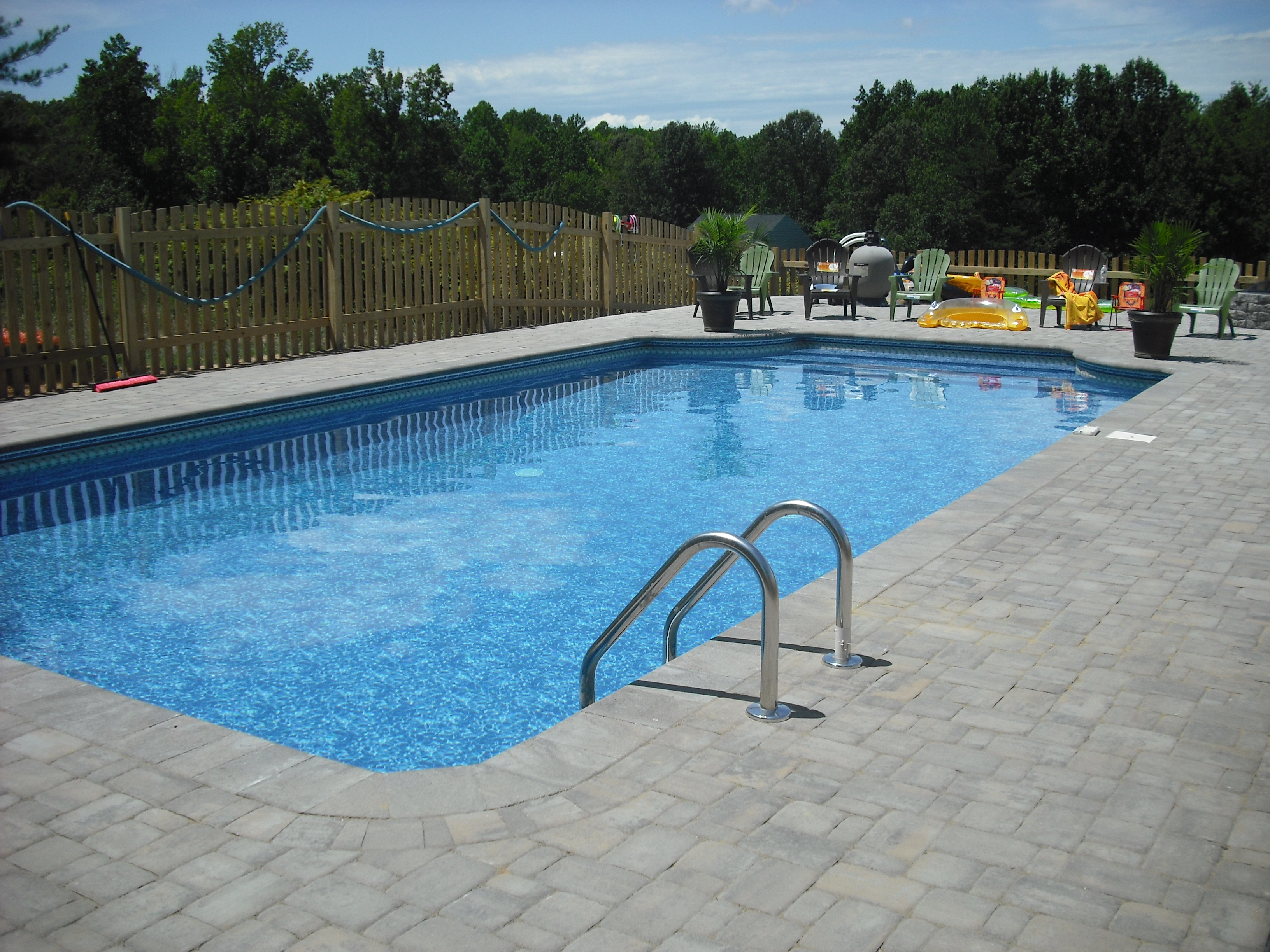 Pavers Around Swimming Pool Brick Paver Skirting Around Pool  Stafford Nursery