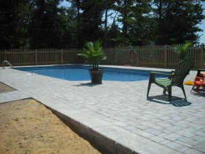 Brick Paver Skirting Around Pool