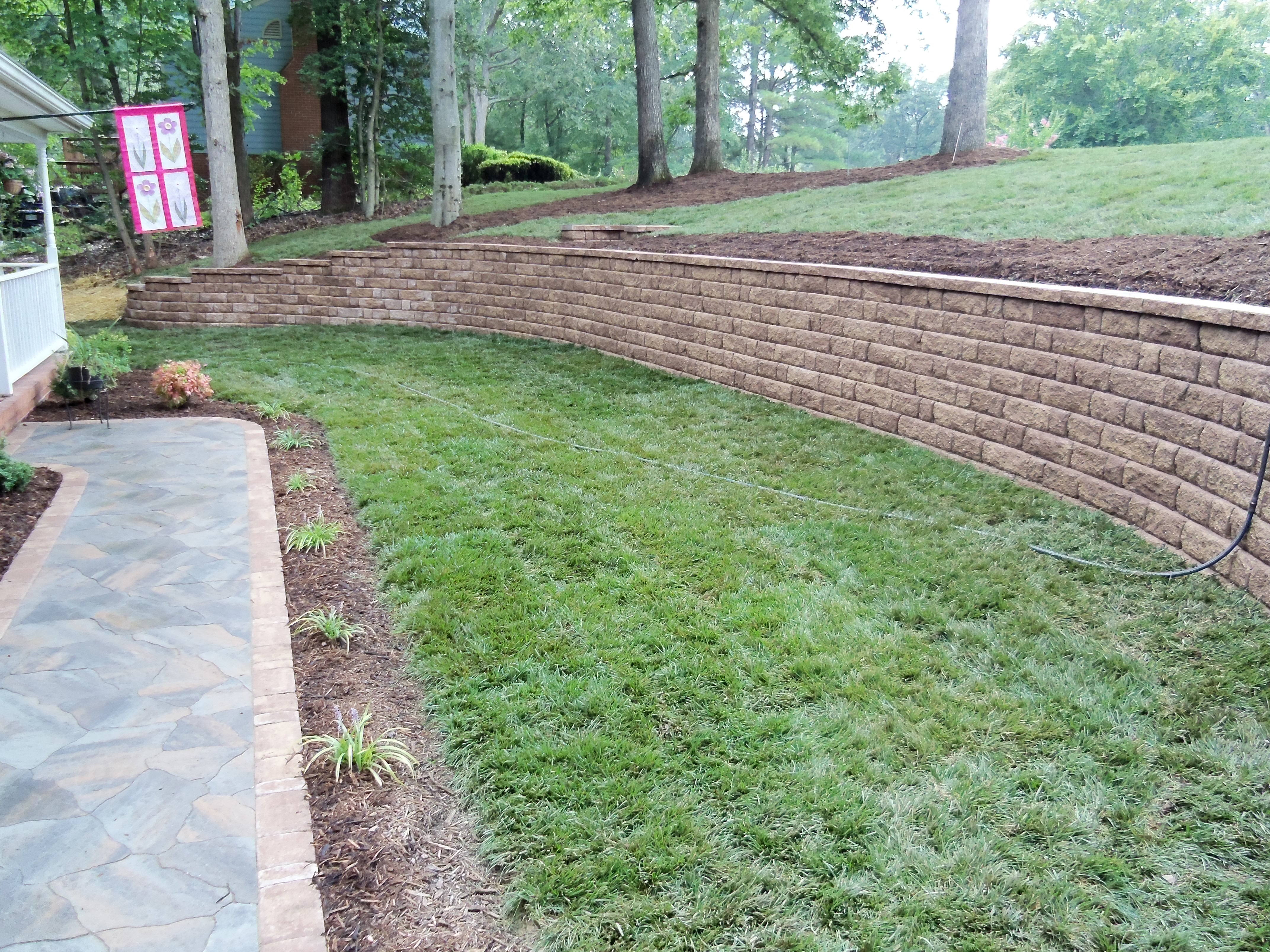 Front Yard Retaining Walls Landscaping Ideas Part - 26: Retaining Wall Landscaping - Fredericksburg, VA