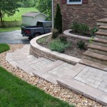 Fredericksburg Landscaping - Brick paver walkway and foyer overlay