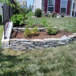 Dry Stack Rock Wall in Front Yard