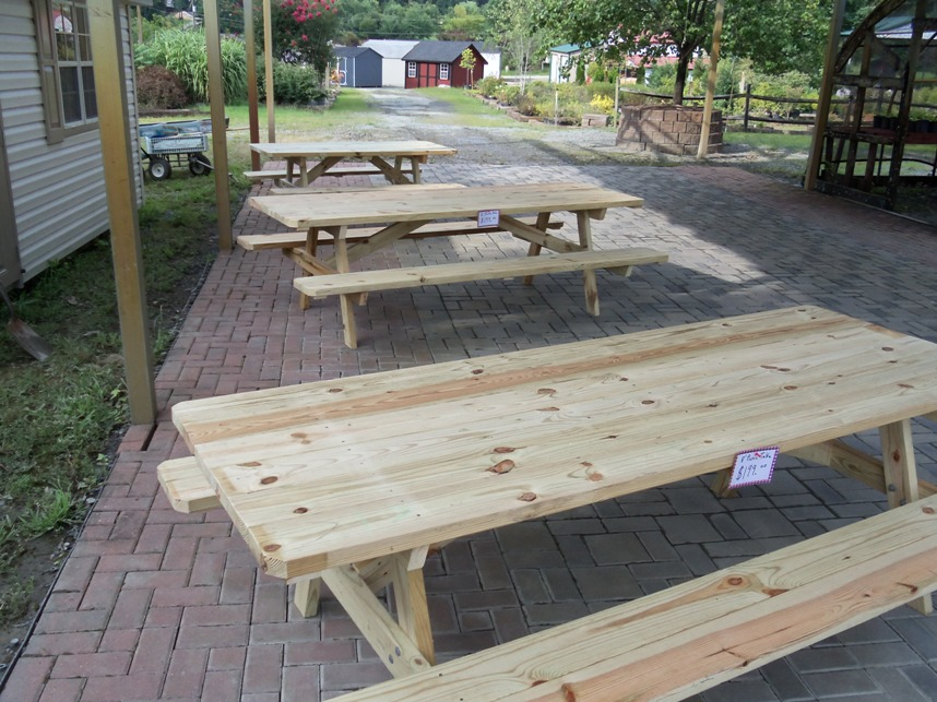 Wood Picnic Tables In Fredericksburg Virginia Stafford Nursery - Treated lumber picnic table