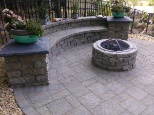landscaping dumfries virginia sitting wall