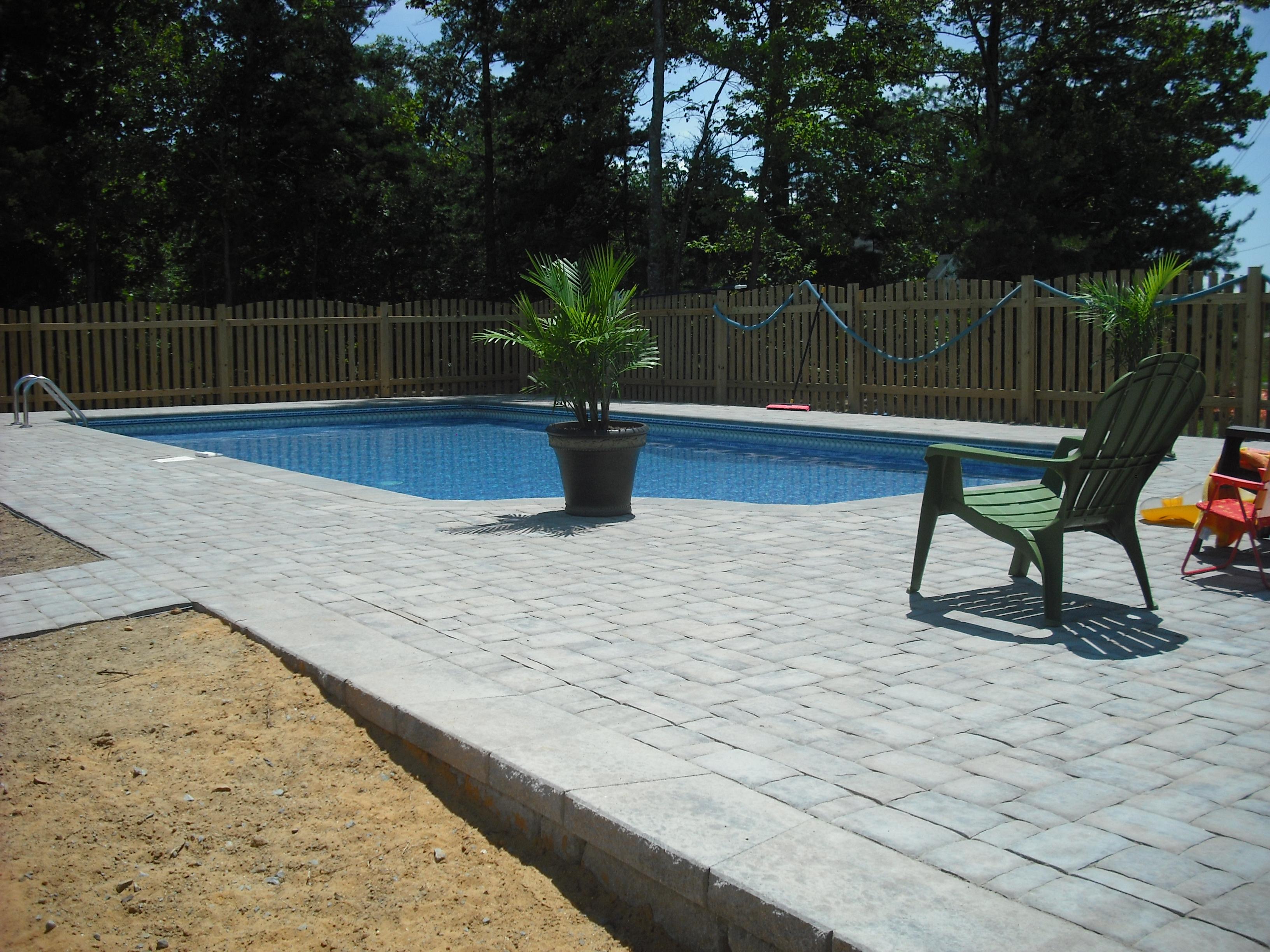 Brick Paver Skirting Around Pool